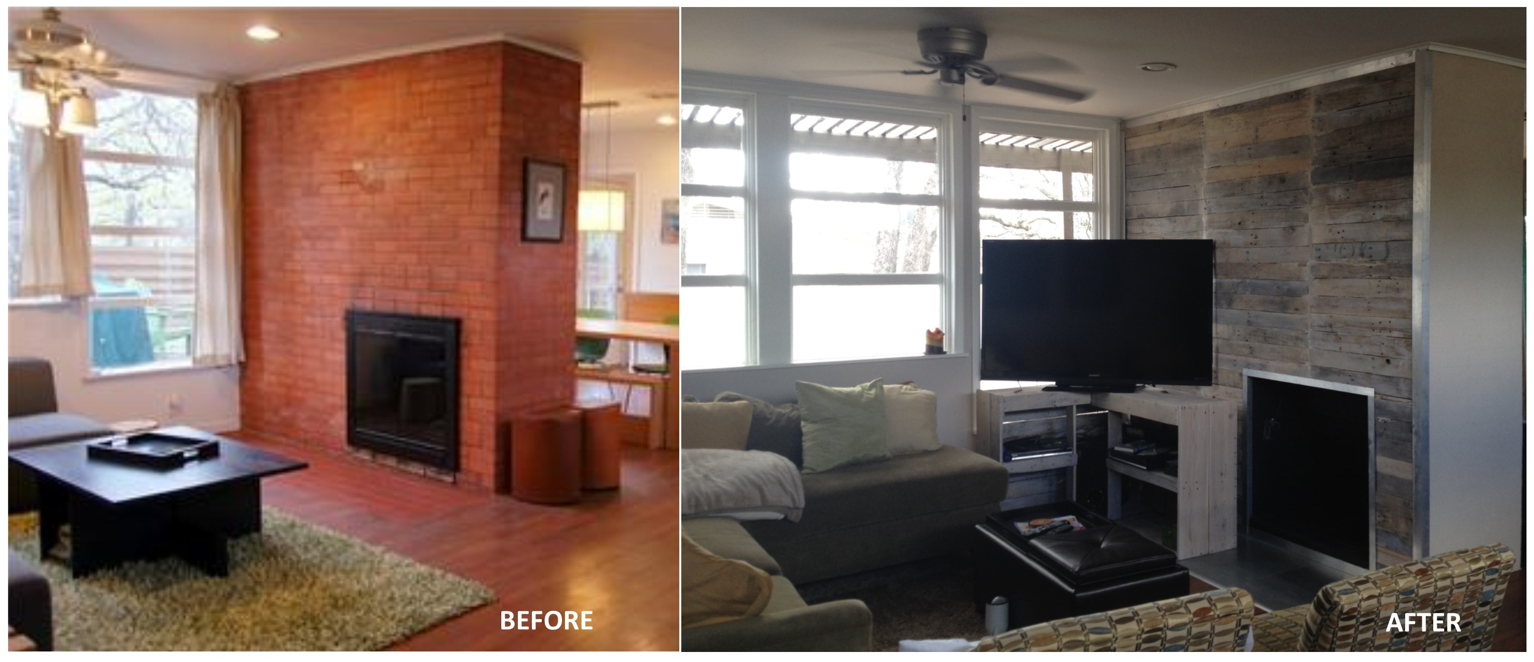 easily how boring around faux resurfacing resurface resurfaced blog a and after to with photo before creative behind quickly the drywall look panels fireplace